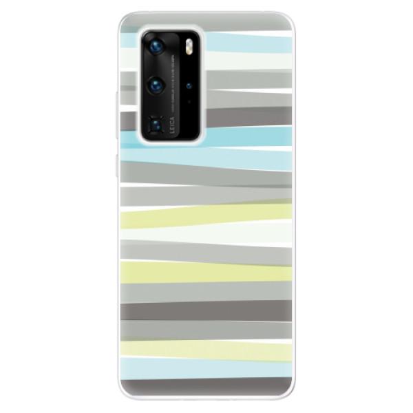 Odolné silikonové pouzdro iSaprio - Stripes - Huawei P40 Pro