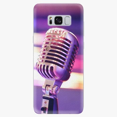 Silikonové pouzdro iSaprio - Vintage Microphone - Samsung Galaxy S8