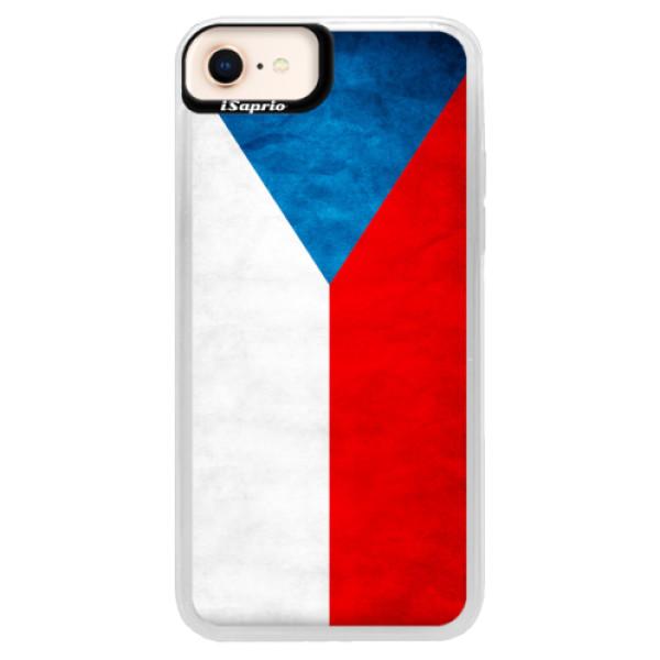 Neonové pouzdro Pink iSaprio - Czech Flag - iPhone 8