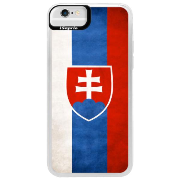 Neonové pouzdro Blue iSaprio - Slovakia Flag - iPhone 6/6S