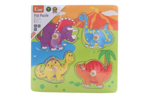 Dřevěná vkládačka - dinosauři