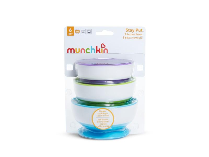 Munchkin - Misky s přísavkami 3ks