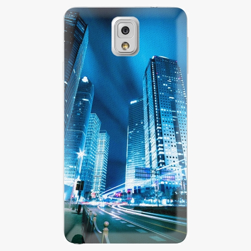 Plastový kryt iSaprio - Night City Blue - Samsung Galaxy Note 3