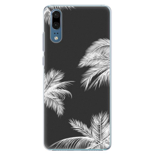 Plastové pouzdro iSaprio - White Palm - Huawei P20