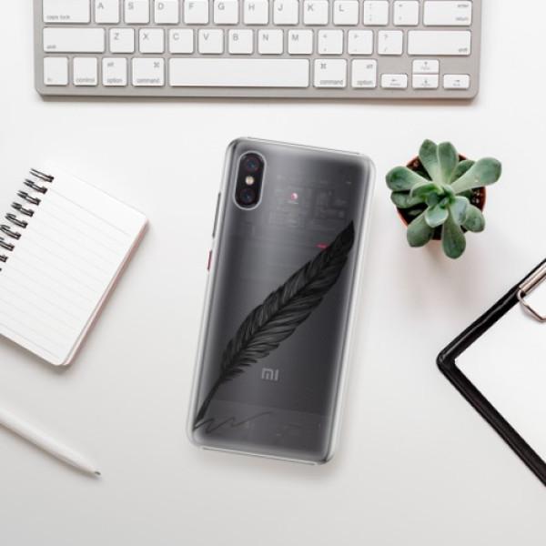 Plastové pouzdro iSaprio - Writing By Feather - black - Xiaomi Mi 8 Pro