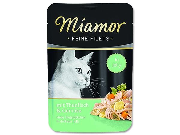 Kapsička MIAMOR Feine Filets tuňák + zelenina v želé 100g
