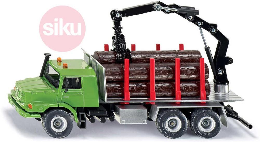 SIKU Auto kamion lesnický Merceded-Benz Holz s nákladem dřeva 1:50 model kov 2714