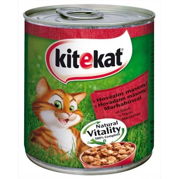 S hovězím masem ve šťávě kompletní krmivo pro dospělé kočky 800 g