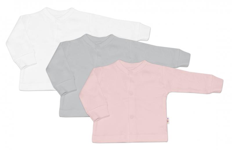Baby Nellys Kojenecká dívčí sada košilka,kabátek BASIC - 3