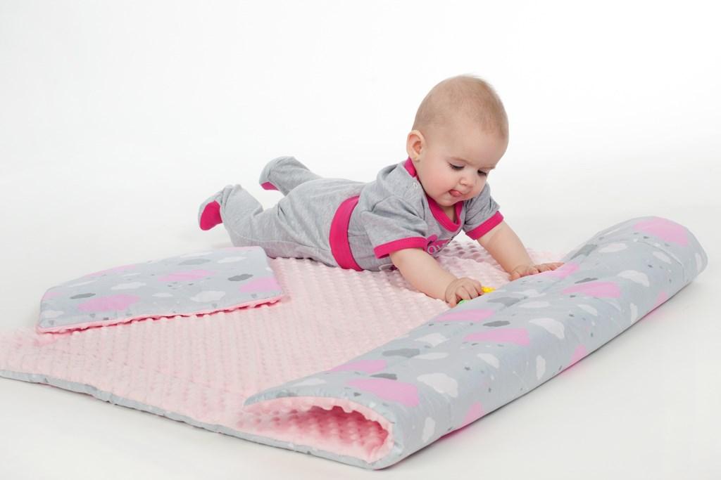 Oboustranný Set z Minky do kočárku New Baby obláček