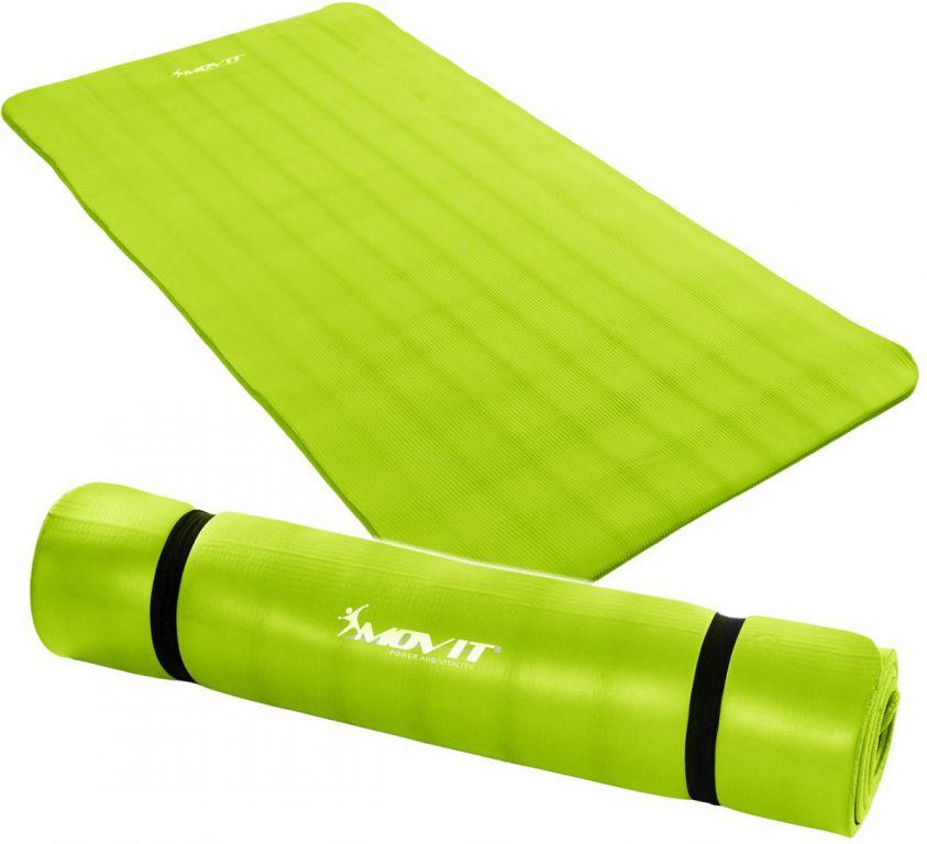 Gymnastická podložka MOVIT 190 x 100 x 1,5 cm sv. zelená