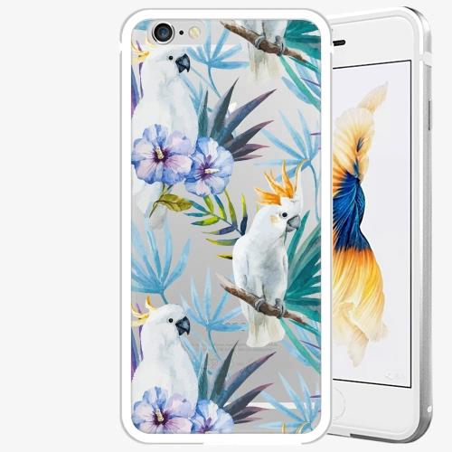 Plastový kryt iSaprio - Parrot Pattern 01 - iPhone 6 Plus/6S Plus - Silver