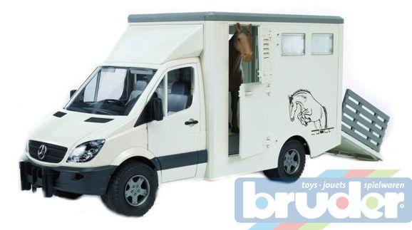 BRUDER 02533 (2533) Auto MERCEDES BENZ Sprinter - přepravník na koně