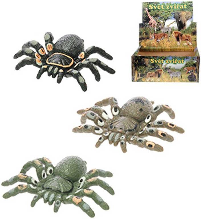 Pavouk strečový 6 cm zvířátko - 3 barvy