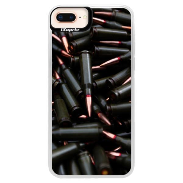 Neonové pouzdro Pink iSaprio - Black Bullet - iPhone 8 Plus