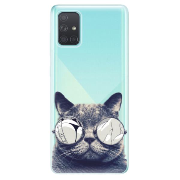 Odolné silikonové pouzdro iSaprio - Crazy Cat 01 - Samsung Galaxy A71