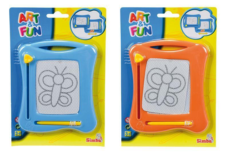 SIMBA Tabulka magnetická kreslicí 16 x 13 cm na kartě 2 barvy PLAST