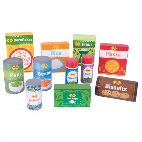 Bigjigs Toys Sada trvanlivých potravin