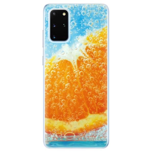Odolné silikonové pouzdro iSaprio - Orange Water - Samsung Galaxy S20+