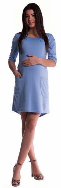 Těhotenské a kojící šaty - sv. modré