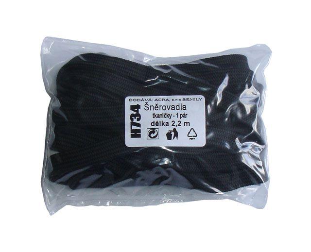 Tkaničky černé - 2,2m, 2,3m, 2,4m
