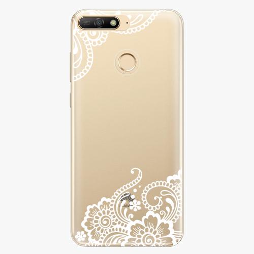 Silikonové pouzdro iSaprio - White Lace 02 - Huawei Y6 Prime 2018