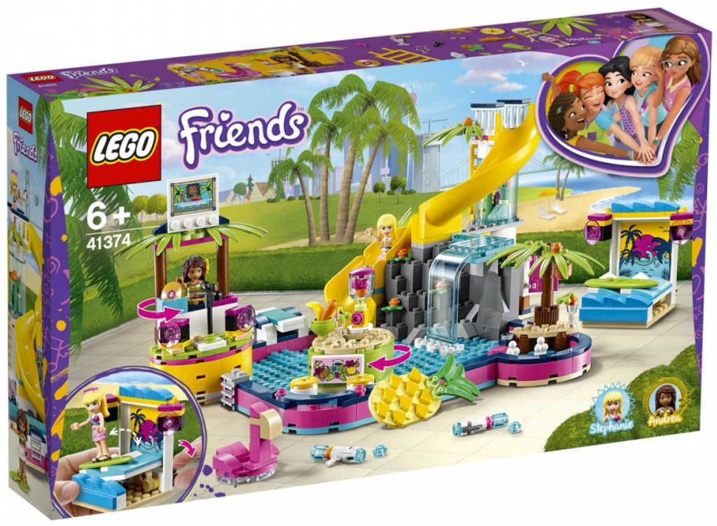 LEGO FRIENDS Andrea a party u bazénu 41374 STAVEBNICE