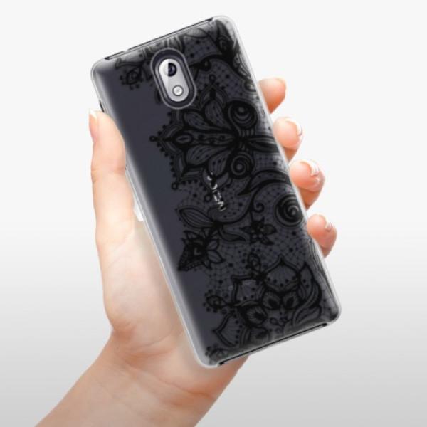 Plastové pouzdro iSaprio - Black Lace - Nokia 3.1