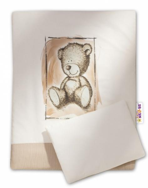 Baby Nellys Sada do kočárku komplet 4D Sweet Dreams by Teddy - písková
