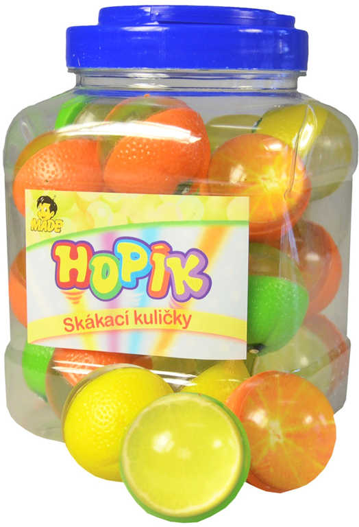 Hopskulička citrus 4cm hopík balonek skákací ovoce zelenina různé druhy