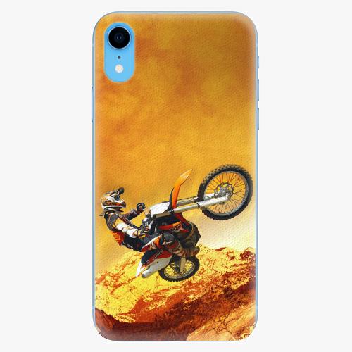 Silikonové pouzdro iSaprio - Motocross - iPhone XR