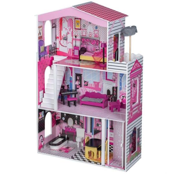 eco-toys-dreveny-domek-pro-panenky-s-vytahem-rezidence-miami