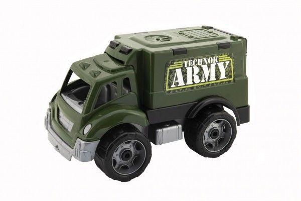 Vojenské auto na volný chod, plast, 30 cm, od 3 let