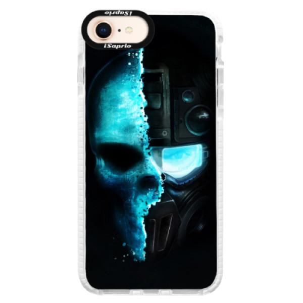 Silikonové pouzdro Bumper iSaprio - Roboskull - iPhone 8