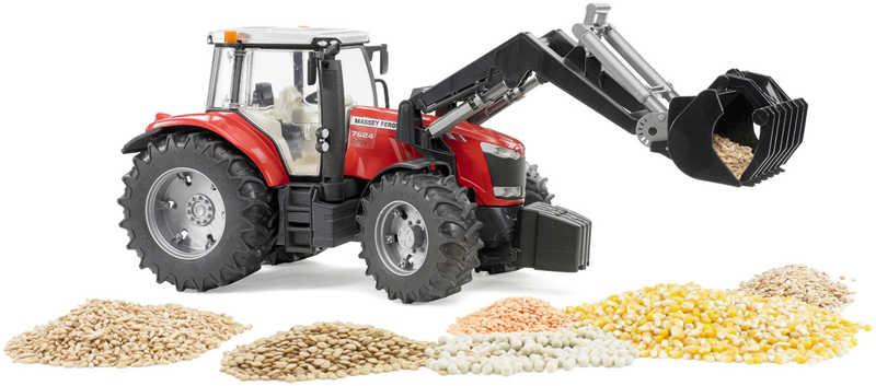 BRUDER 03047 (3047) Traktor MF Massey Ferguson čelní nakladač PLAST