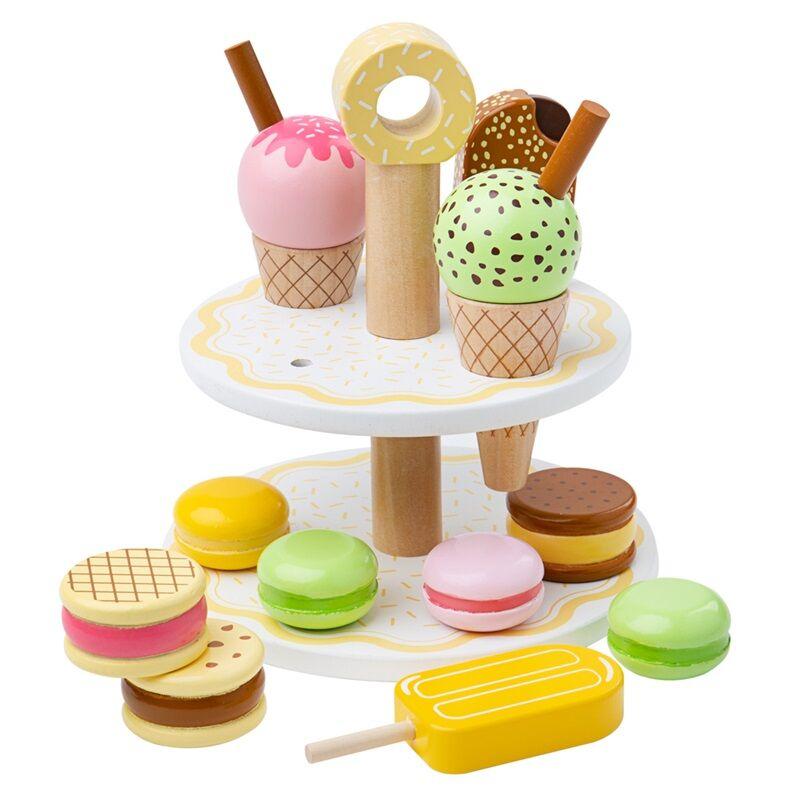 Bigjigs Toys Dřevěný stojan se sladkými dobrotami - poškozený obal