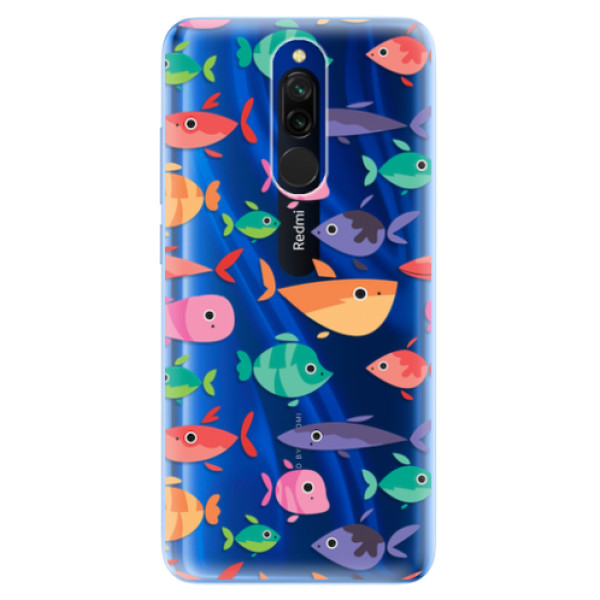 Odolné silikonové pouzdro iSaprio - Fish pattern 01 - Xiaomi Redmi 8