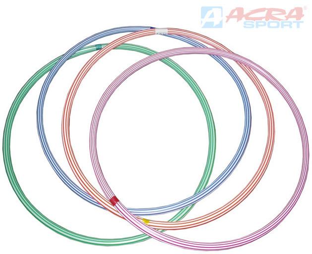 ACRA Obruč gymnastická hula hop 60cm dětský fitness kruh 4 barvy