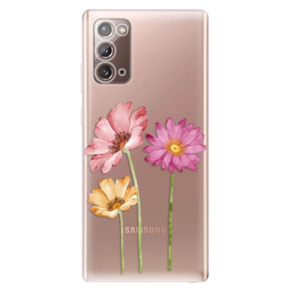 Odolné silikonové pouzdro iSaprio - Three Flowers - Samsung Galaxy Note 20