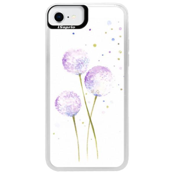 Neonové pouzdro Blue iSaprio - Dandelion - iPhone SE 2020