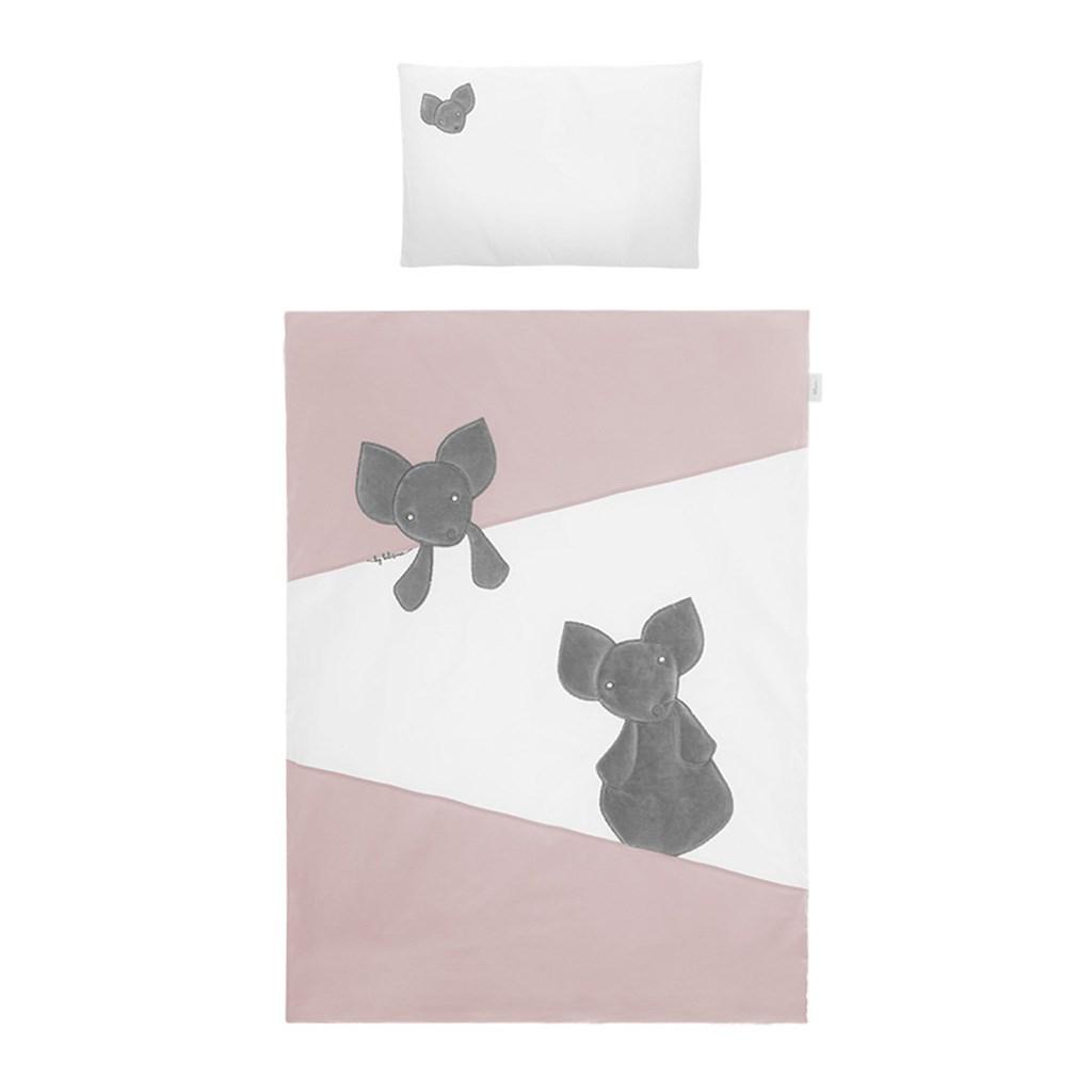 5-dílné ložní povlečení Belisima Mouse 90/120 - růžová