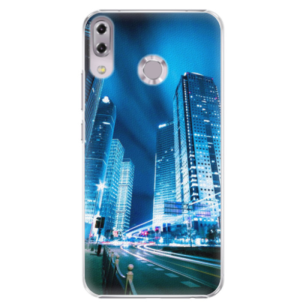Plastové pouzdro iSaprio - Night City Blue - Asus ZenFone 5 ZE620KL