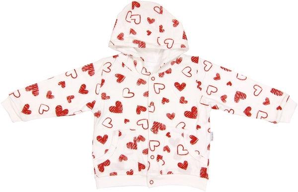 Mamatti Mikinka s kapucí Heart, roz. 98 - 98 (24-36m)