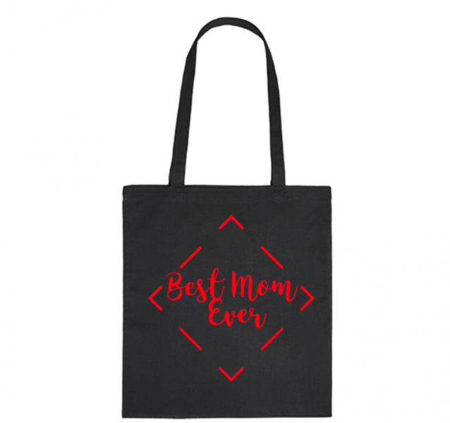 Bavlněná taška pro mámy Best Mom Ever - černá