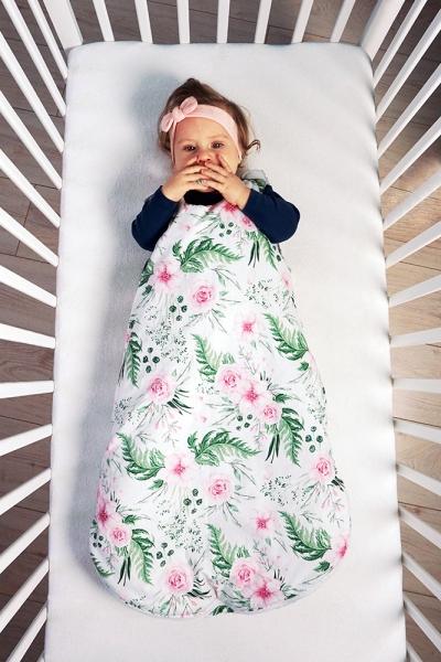 Baby Nellys Bavlněný spací vak Srdíčka - růžová, 48x80cm