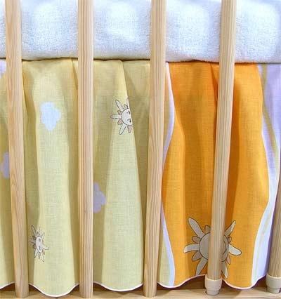 VÝPRODEJ Krásný volánek pod matraci - Městečko pomeranč - 120x60