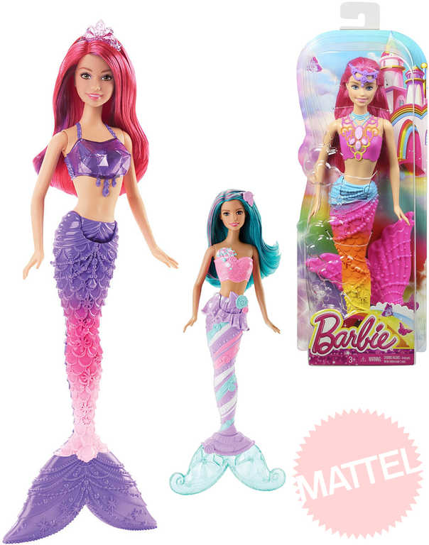 MATTEL BRB Barbie mořská panna set s doplňkem a extra pramínkem vlasů 3 druhy