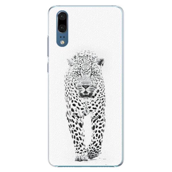 Plastové pouzdro iSaprio - White Jaguar - Huawei P20