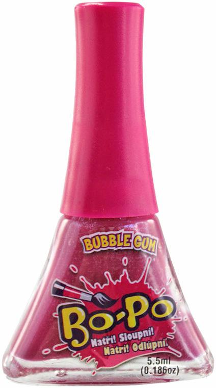 EP line BO-PO Lak na nehty dětský fialový slupovací Bubble Gum 5,5ml na kartě