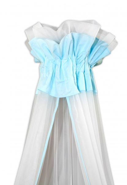 Baby Nellys Luxusní moskytiéra 160x400cm - Medvídek Maxik - bílá,mátová